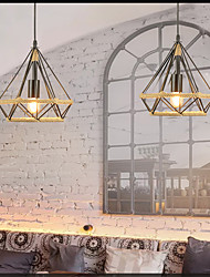 cheap -26 cm Diamond Antique Industrial Wind Pendant Light Bar Internet Cafe Restaurant Birdcage Hemp Rope American Rural Iron Hemp Rope Chandelier