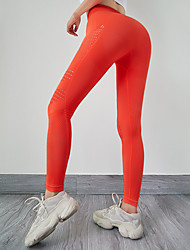 cheap -Women's High Waist Running Tights Leggings Athletic Leggings Bottoms Mesh Spandex Winter Fitness Gym Workout Running Exercise Tummy Control Butt Lift Breathable Sport Black Blue Orange Rose Pink