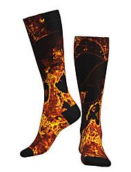 cheap -Socks Cycling Socks Men's Women's Bike / Cycling Breathable Soft Comfortable 1 Pair Graphic Cotton Black / Yellow M L XL / Stretchy