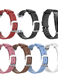 cheap -Watch Band for Fitbit Ace 2 / Fitbit Inspire HR / Fitbit Inspire Fitbit Classic Buckle / Business Band Genuine Leather Wrist Strap