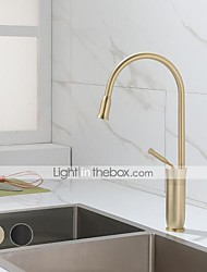 cheap -Kitchen faucet - Single Handle One Hole Painted Finishes Tall / ­High Arc Mount Outside Contemporary Kitchen Taps