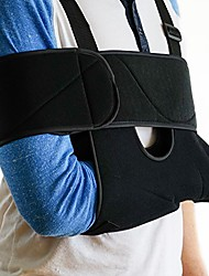 cheap -medical arm sling shoulder brace - best fully adjustable rotator cuff and elbow support - includes immobilizer band for quick recovery - for men and women (large)