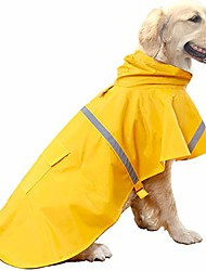 cheap -dog raincoats for large dogs with reflective strip hoodie,rain poncho jacket