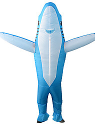 cheap -Shark Masquerade Waterproof  Costume Adults' Men's Funny & Reluctant Halloween Party Performance Carnival New Year Masquerade Festival / Holiday Polyester Blue / Gray Men's Women's Easy Carnival