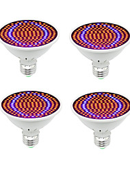 cheap -4pcs LED Phyto Hydroponic Grow Light for Indoor Plants E27 200 Led Grow Bulb Full Spectrum 85-265V Lamp Plant Flower Seedling System