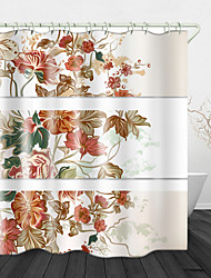 cheap -Painted Beautiful flowers Print Waterproof Fabric Shower Curtain for Bathroom Home Decor Covered Bathtub Curtains Liner Includes with Hooks