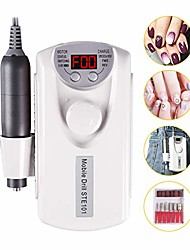 cheap -nail drill machine for acrylic nails portable rechargeable nail file bits for polishing manicure pedicure nail cutter device - salon or home use & #40;30000rpm smart led display& #41;