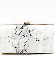 cheap -Women's Bags Polyester Alloy Evening Bag Pattern / Print Handbags Wedding Event / Party White
