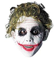 cheap -Cosplay Wig Joker Curly Asymmetrical Wig Short Black / Dark Green Synthetic Hair Men's Cosplay Funny Green