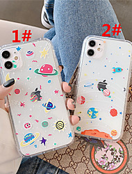 cheap -Case For Apple scene map iPhone 11 11 Pro 11 Pro Max cartoon color planet pattern high permeability TPU material air pressure drop-resistant mobile phone case