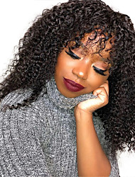 cheap -Synthetic Wig Afro Curly Loose Curl With Bangs Wig Long Black Synthetic Hair Women's Party Classic Comfortable Black