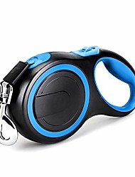 cheap -retractable dog leash 26ft, long dog leashes for small medium large dogs up to 110lbs, heavy duty one button break & lock no tangle nylon leads for dogs pets walking & training, blue