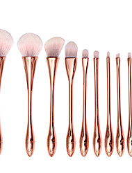 cheap -10 Pcs Single Loose Powder Brush Small Waist Makeup Brush Beauty Tools Foundation Eye Shadow Nose Shadow Eyebrow Comb
