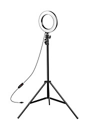 cheap -8-inch Selfie Ring Light with Adjustable Tripod Stand & Cell Phone Holder for Live Stream YouTube Video MakeupDimmable LED Camera Ringlight with 3 Light Modes