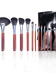 cheap -12 Pcs Professional Animal Hair Makeup Brushes With Wooden Handles Makeup Students Personal Use Wool Makeup Brushes