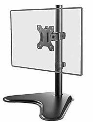 cheap -free standing single lcd monitor fully adjustable desk mount fits 1 screen up to 32 inch, 17.6 lbs. weight capacity & #40;mf001& #41;, black