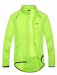 cheap -SANTIC Men's Women's Cycling Jacket Bike Jacket Ultraviolet Resistant Jacket Raincoat Waterproof Windproof Quick Dry Sports Solid Color Lycra Green Mountain Bike MTB Road Bike Cycling Clothing Apparel