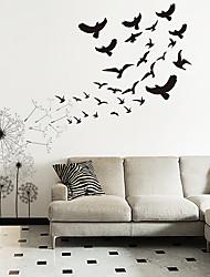 cheap -Animals / Botanical Wall Stickers Dandelion Flying Bird Wall Stickers Decorative Wall Stickers PVC Home Decoration Wall Decal Wall / Window Decoration 1pc