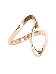 cheap -rose gold coated wave ring - gold plated .925 sterling silver - size 7