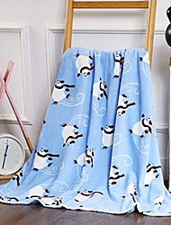 cheap -velvet touch ultra plush christmas holiday printed fleece throw/blanket-50 x 60inch, & #40;skating polar bear& #41;
