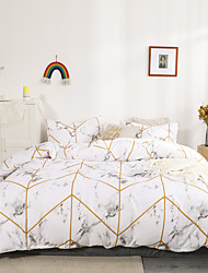 cheap -Geometric lines Print 3-Piece Duvet Cover Set Hotel Bedding Sets Comforter Cover with Soft Lightweight Microfiber(Include 1 Duvet Cover and 1or 2 Pillowcases)
