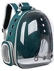 رخيصةأون -تنفس الحيوانات الأليفة السفر على ظهره الفضاء كبسولة الناقل حقيبة المشي لمسافات طويلة فقاعة حقيبة للقطط& كلب (أزرق فاتح)