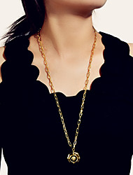 cheap -Women's Long Necklace Long Lion Fashion Alloy Gold 73 cm Necklace Jewelry For Street Festival