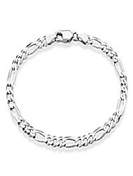"""cheap -miabella solid 925 sterling silver italian 5mm diamond-cut figaro chain bracelet for women men, 6.5"""", 7"""", 7.5"""", 8"""", 9"""" (9)"""