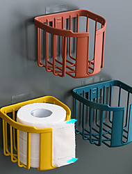 cheap -Toilet Paper Holder Bathroom Kitchen Roll Paper Rack Tissue Punch-free Towel Rack Holders Wall-mounted