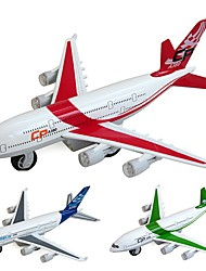 cheap -Airbus 380 Air Plane Model Aircraft Toys Cartoon Music & Light Pull Back Vehicles Plastic Alloy Kid's Adults All Toy Gift