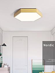 cheap -40 cm Ceiling Light Color Hexagon Geometry Bedroom Children's Room Balcony Kindergarten Ultra Thin Led Ceiling Lamp