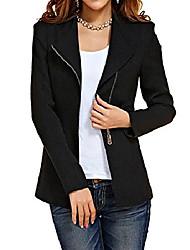 povoljno -ženska jesen oversize slim fit bodycon patentni zatvarač odijelo kaput jakna jakna odjeća nas 8-10 crna