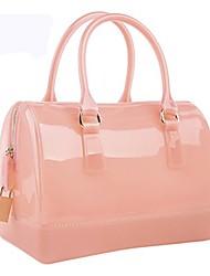 cheap -women's spring/summer jelly color handbag candy color transparent tote bag pillow-shaped shoulder bag