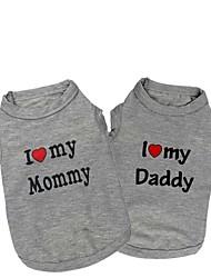 cheap -Cat Dog Shirt / T-Shirt Puppy Clothes Dog Clothes Puppy Clothes Dog Outfits 1# 2# Costume for Girl and Boy Dog Cotton XS S M L