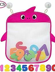 billige -badelegetøjssæt med 2 holdere + 10 skumnumre + 8 sugning&sticker kroge | baby og småbørn badekar mesh taske premium kvalitet | hurtig tør kar holder til skimmelfri legetøj-pink