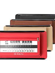 cheap -DeRanFu Genuine Leather Car Visor Tissue Holder with CD Holder Multi-Functional Parking Card Organizer Visor Tissue Box Bag Card Slot for Car & Truck