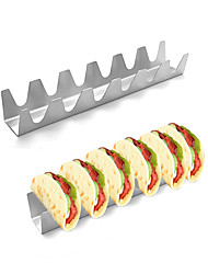cheap -Stainless Steel Taco Holder Stand Pack and Tray 1 Pc Oven Safe for Baking Dishwasher and Grill Safe