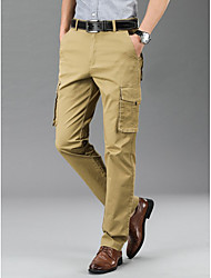cheap -Men's Outdoor clothing Tactical Cargo Pants Solid Color Classic ArmyGreen Black khaki
