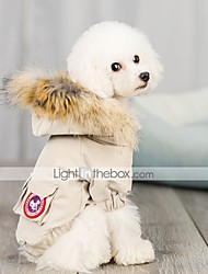 cheap -Dog Coat Solid Colored Casual / Sporty Fashion Casual / Daily Winter Dog Clothes Puppy Clothes Dog Outfits Breathable Yellow Blue Beige Costume for Girl and Boy Dog Polyster S M L XL XXL