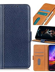 cheap -Case For Nokia 8.3 5G Nokia C2 C1 Nokia X71 Wallet Card Holder with Stand Solid Colored Genuine Leather For Nokia 1.3 Nokia 2.3 Nokia 6.2 Nokia 7.2 Nokia 2.2 Nokia 4.2 Nokia 3.2 Nokia 1 Plus