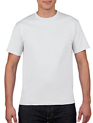 cheap -Men's T shirt non-printing Solid Colored Short Sleeve Daily Tops Cotton Basic Round Neck White Black Red