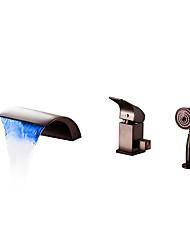cheap -Bathtub Faucet - Contemporary Oil-rubbed Bronze Roman Tub Ceramic Valve Bath Shower Mixer Taps
