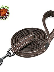 """cheap -best padded 3m reflective outdoor adventure dog leash. perfect match front range and service dog harness. & #40;78"""" medium, chocolate& #41;"""