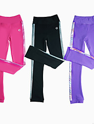 cheap -Figure Skating Pants Women's Girls' Ice Skating Pants / Trousers Black Purple Pink Stretchy Training Skating Wear Warm Patchwork Ice Skating Winter Sports Figure Skating / Kids