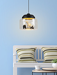 cheap -LED Pendant Light 9W Creative Cartoon Animal Glass Hanging Ceiling Lamp Mini Chandelier 1-Light for Kid's Room Bedroom Hallway Cafe Clothing Store