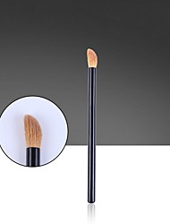 cheap -Single Eye Shadow Brush Animal Hair Bevel Wooden Handle Yellow Wolf Hair Eye Brush Makeup Tools