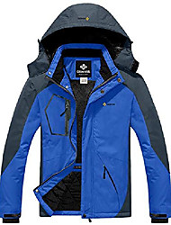 cheap -men's mountain waterproof ski snow jacket winter windproof rain jacket (sky blue,x-large)