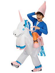 cheap -Cowboy Unicorn Masquerade Waterproof  Costume Kid's Adults' Men's Funny & Reluctant Halloween Party Performance Carnival New Year Masquerade Festival / Holiday Polyester White / Orange / Coffee Men's