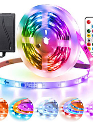 cheap -5M ws2811 50 ICs 5050 digital RGB Strip 150LED Pixels IP65 waterproof Dream Magic Full color DC 12V Led Strip 30LEDm with mini RF 17 keys controller (PCB white)