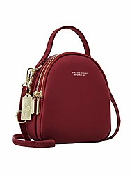 cheap -backpack purse for women,  women travel shoulder crossbody bags wallets handbags clutch mini backpack for iphone xs max xr 8 7 6s 5 se ipod touch 5/6, gifts for girls - wine red